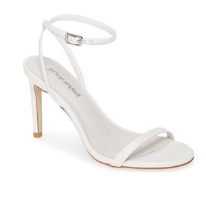 Jeffrey Campbell White Patent Leather Strappy Heel